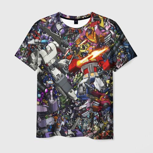 Мужская футболка 3D Transformer Art