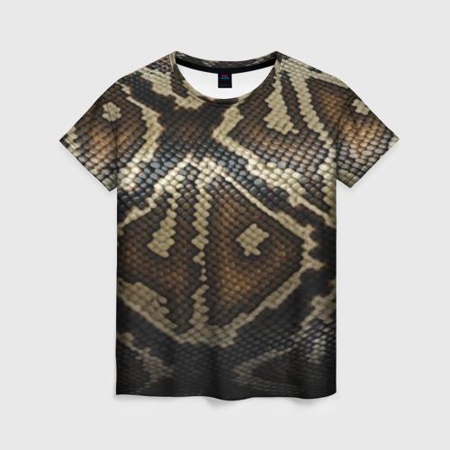 Женская футболка 3D Кожа змеи