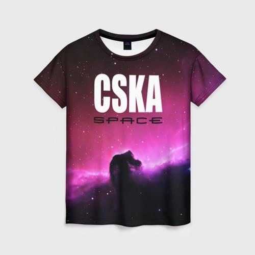 Женская футболка 3D CSKA space
