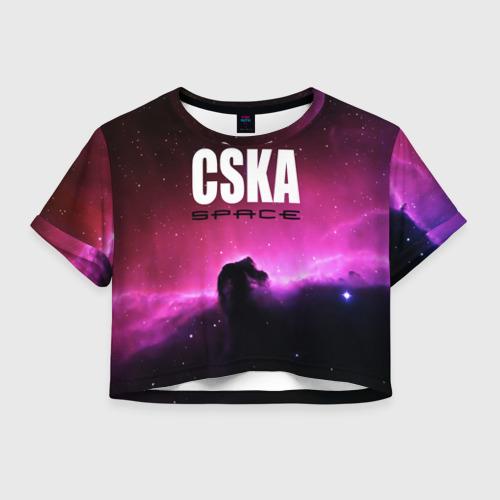 Женская футболка Crop-top 3D CSKA space