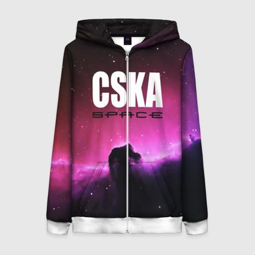 Женская толстовка 3D на молнии CSKA space