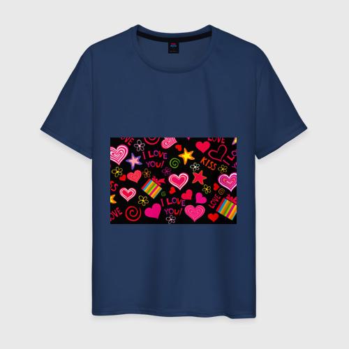 Мужская футболка хлопок Праздник любви