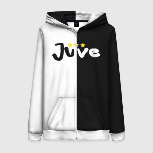 Женская толстовка 3D на молнии Juventus