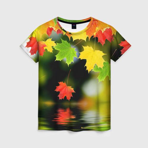 Женская футболка 3D Осень