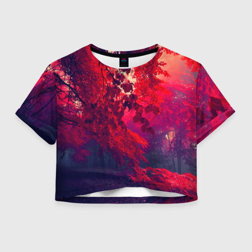 Женская футболка Crop-top 3D Осень