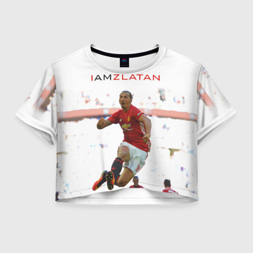 Женская футболка Crop-top 3D IAmZlatan