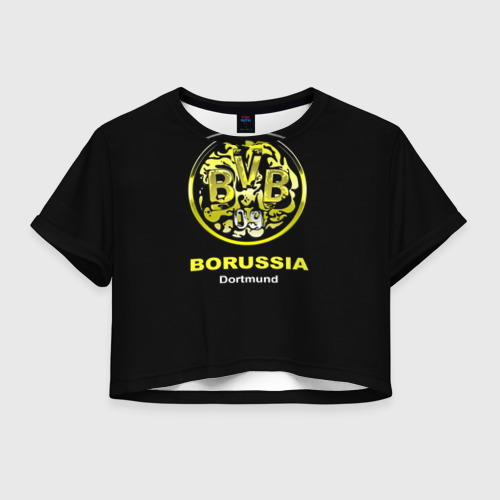Женская футболка Crop-top 3D Borussia Dortmund