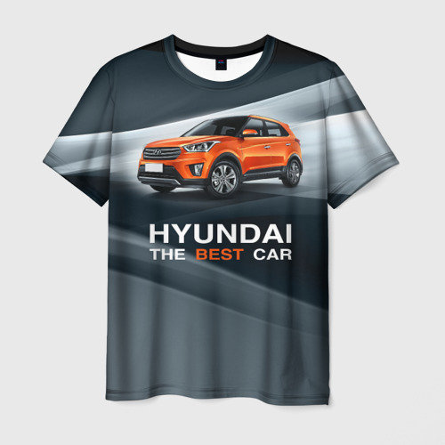 Мужская футболка 3D Hyundai the best car