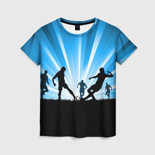 Женская футболка 3D Футболисты