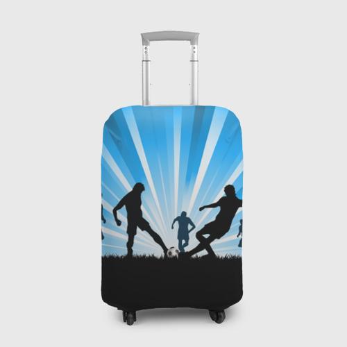 Чехол для чемодана 3D Футболисты