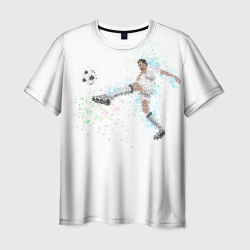 Мужская футболка 3D Футболист 3