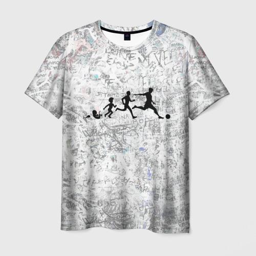 Мужская футболка 3D Evo Of A Footballer