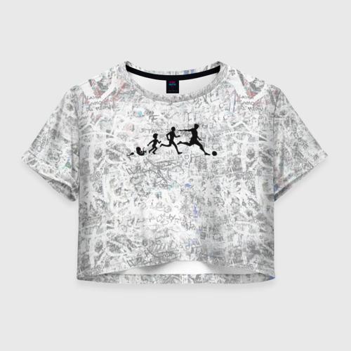 Женская футболка Crop-top 3D Evo Of A Footballer