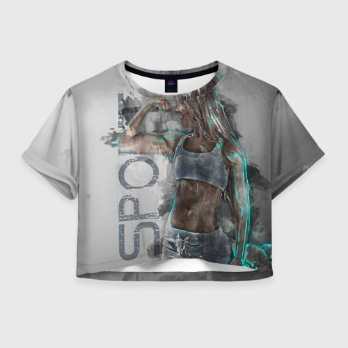 Женская футболка Crop-top 3D Фитоняшка