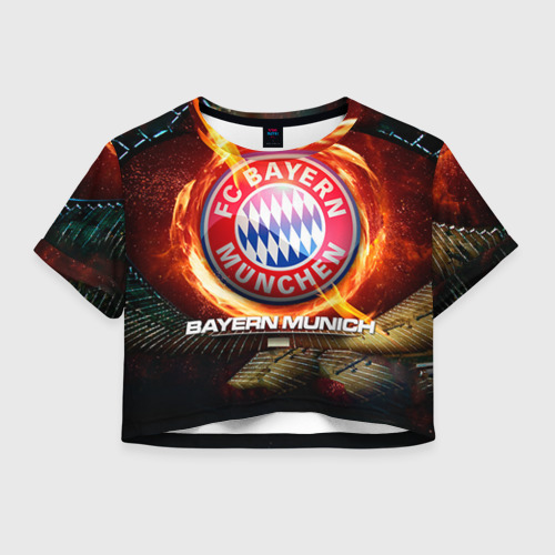 Женская футболка Crop-top 3D Bayern