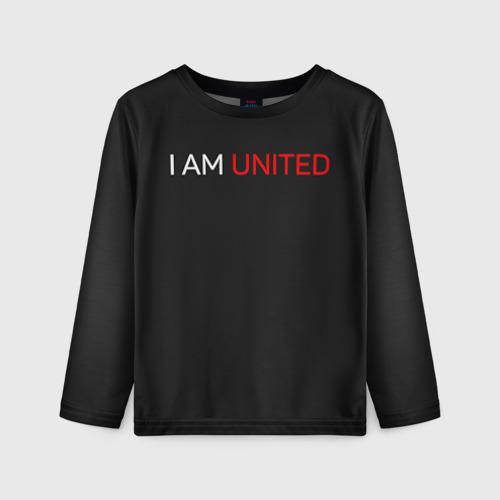 Детский лонгслив 3D Manchester United team