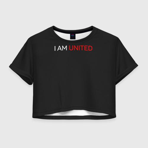 Женская футболка Crop-top 3D Manchester United team