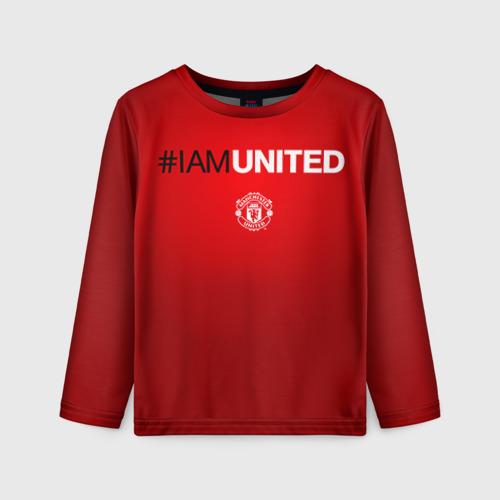 Детский лонгслив 3D I am United