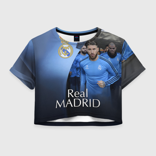 Женская футболка Crop-top 3D Real Madrid