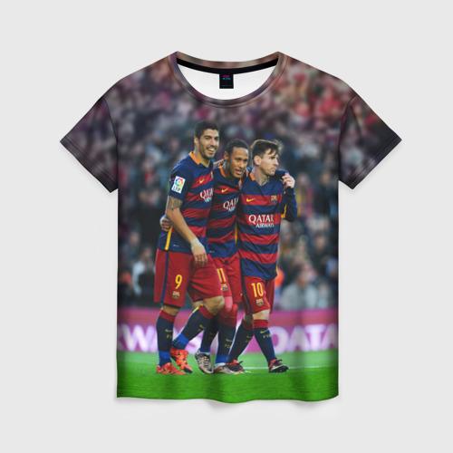 Женская футболка 3D Barcelona5