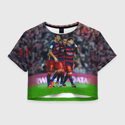 Женская футболка Crop-top 3D Barcelona5