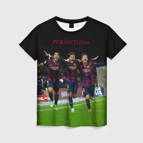 Женская футболка 3D Barcelona6