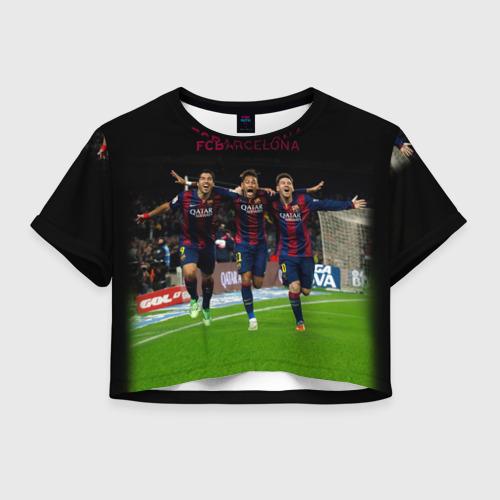 Женская футболка Crop-top 3D Barcelona6