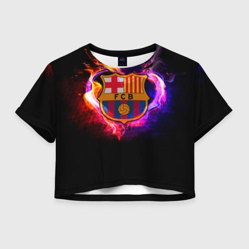Женская футболка Crop-top 3D Barcelona7
