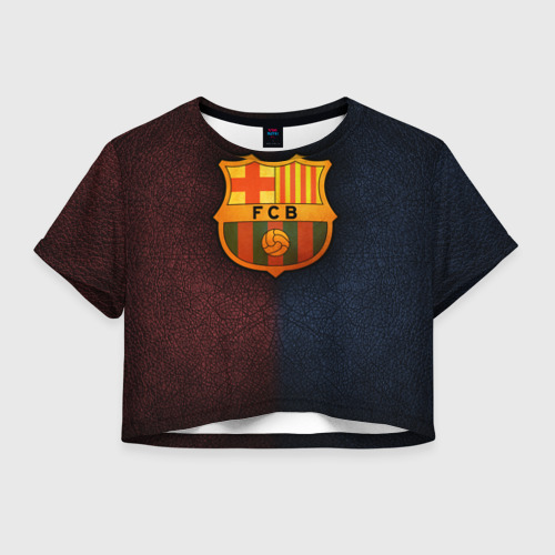 Женская футболка Crop-top 3D Barcelona8