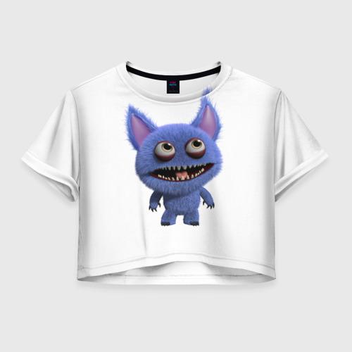 Женская футболка Crop-top 3D Монстр