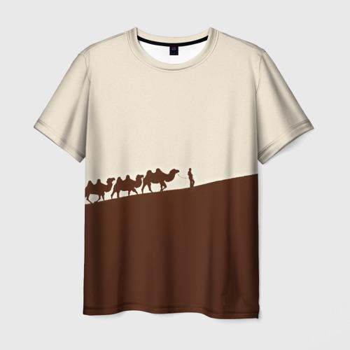 Мужская футболка 3D Пустыня