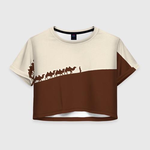 Женская футболка Crop-top 3D Пустыня