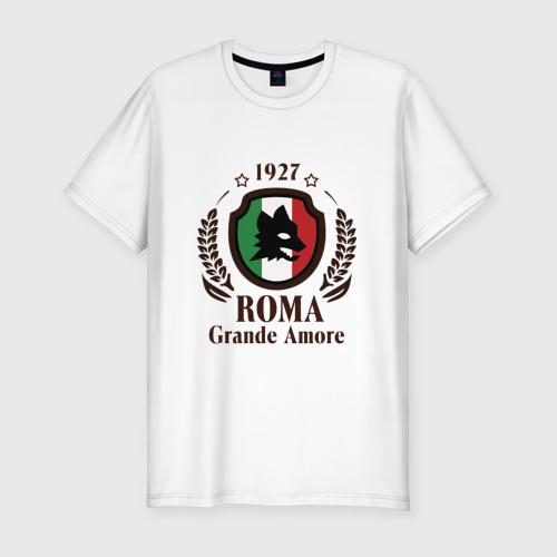 Мужская футболка хлопок Slim AS Roma