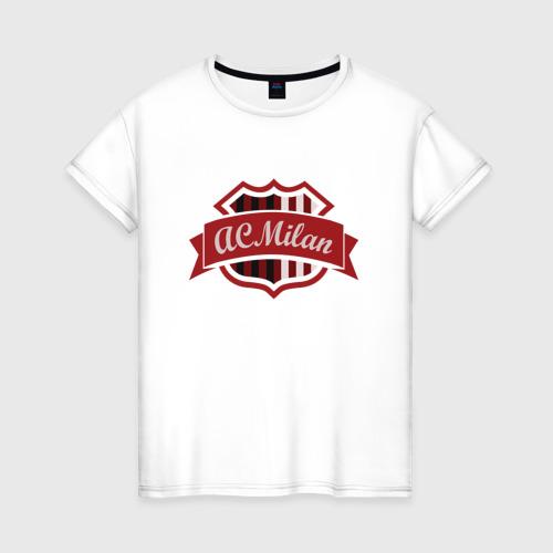 Женская футболка хлопок ФК Милан