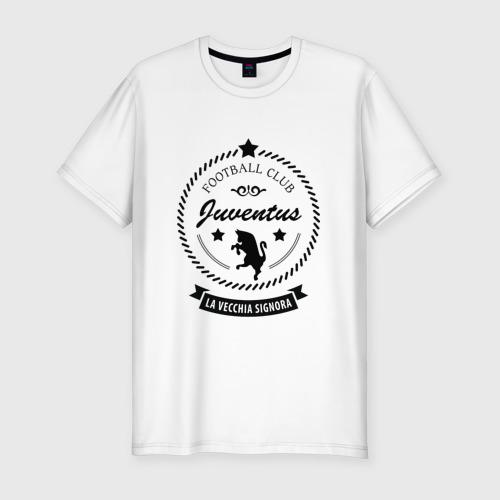 Мужская футболка хлопок Slim juventus