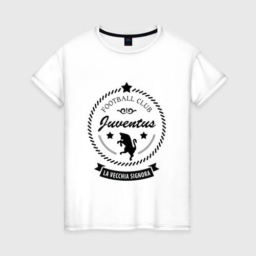 Женская футболка хлопок juventus