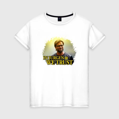 Женская футболка хлопок Jurgen_Klopp