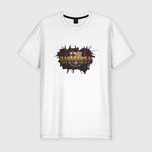 Мужская футболка хлопок Slim Barcelona