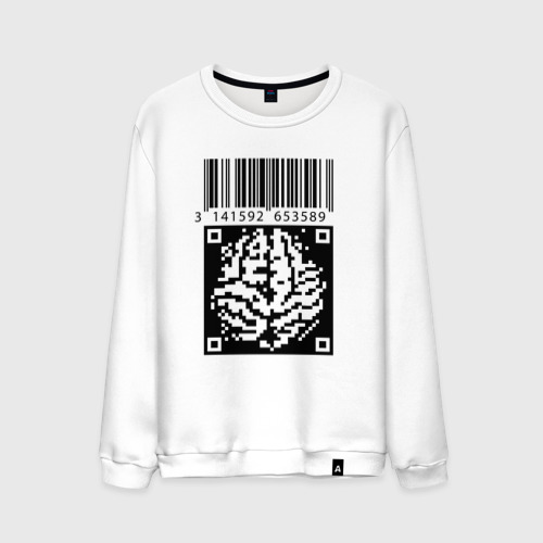 Мужской свитшот хлопок QR brain code