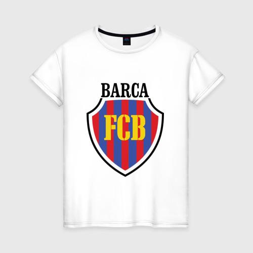Женская футболка хлопок Barcelona