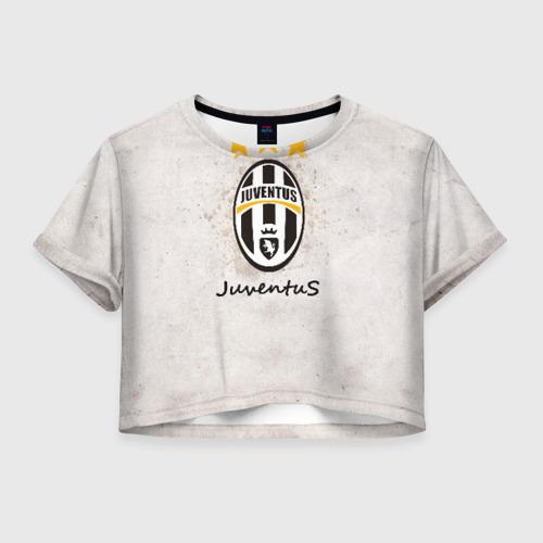 Женская футболка Crop-top 3D Juventus3