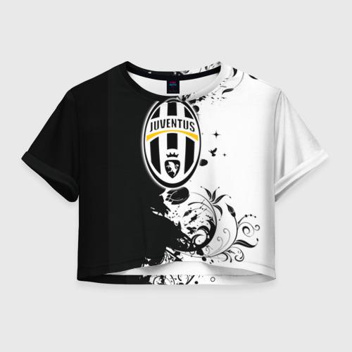 Женская футболка Crop-top 3D Juventus4