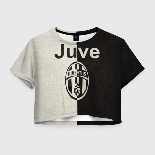 Женская футболка Crop-top 3D Juventus6