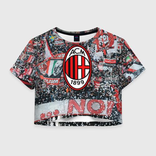 Женская футболка Crop-top 3D Milan1