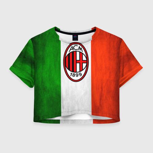 Женская футболка Crop-top 3D Milan2