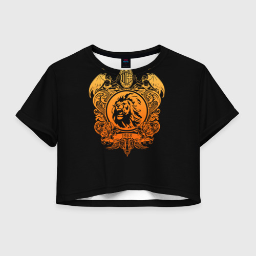Женская футболка Crop-top 3D Milan6