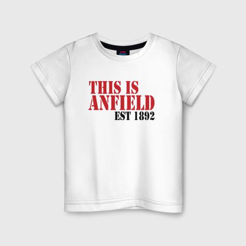 Детская футболка хлопок This is Anfield