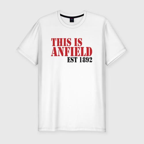 Мужская футболка хлопок Slim This is Anfield