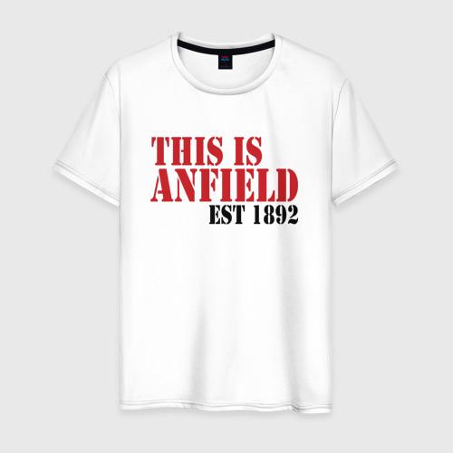 Мужская футболка хлопок This is Anfield