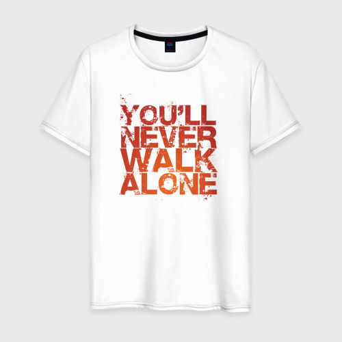 Мужская футболка хлопок you'll never walk alone